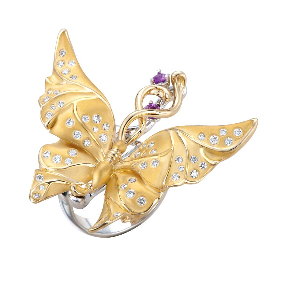 Butterfly jewellery_Basel_Carrera y Carrera_Alegoria butterfly ring in yellow and white gold with diamonds and pink sapphires.jpg