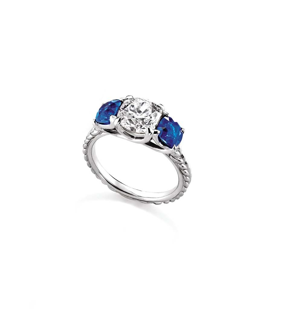 Three stone engagement rings_David Yurman sapphire ring.jpg